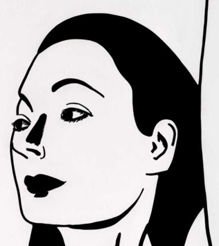 Alex Katz, 'Alex Katz, 'Laura 2' 2018 Print', 2018, Print, One-color etching on Saunders Waterford, HP, High White, 425 gsm, fine art paper, Hirth Fine Art