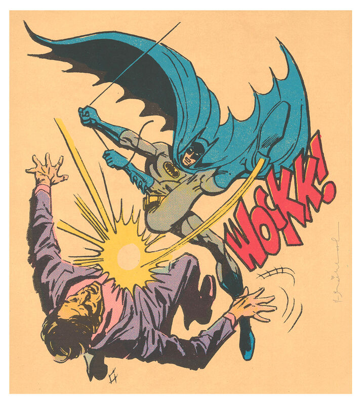 Mr. Brainwash, 'Bat-Wockk (Hand Embellished)', 2019, Mixed Media, Silkscreen with acrylic paint splatters on paper, DANE FINE ART