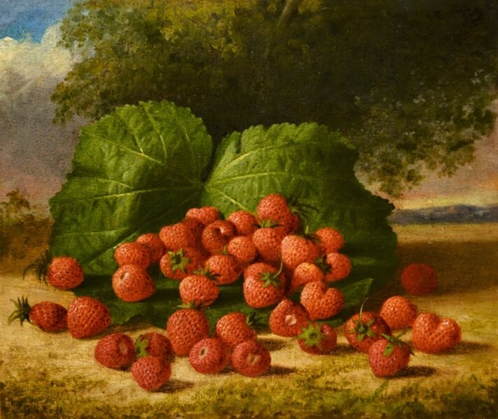 George Henry Hall, 'Raspberries Plein Air', ca. 1870