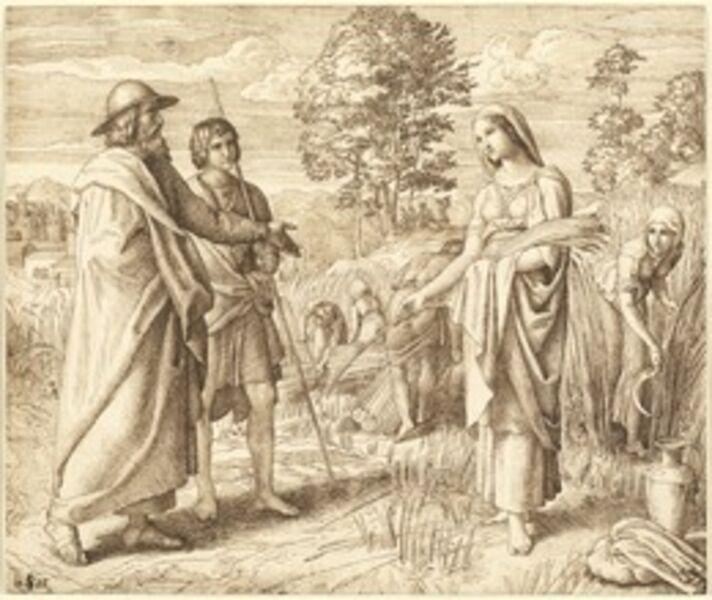 Julius Schnorr von Carolsfeld, 'Ruth and Boas', 1825