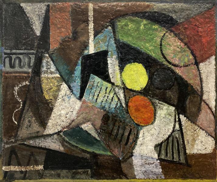 John Von Wicht, 'Fruit on Table', 1950