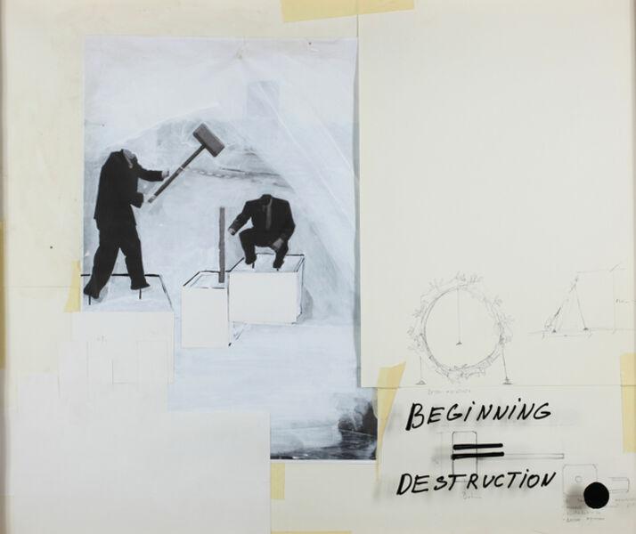 István Csákány, 'Beginning = Destruction', 2013