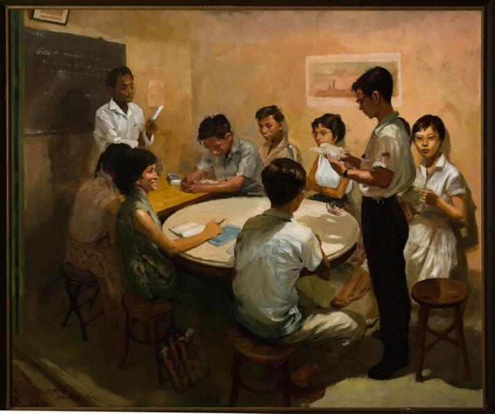Chua Mia Tee, 'National Language Class', 1959