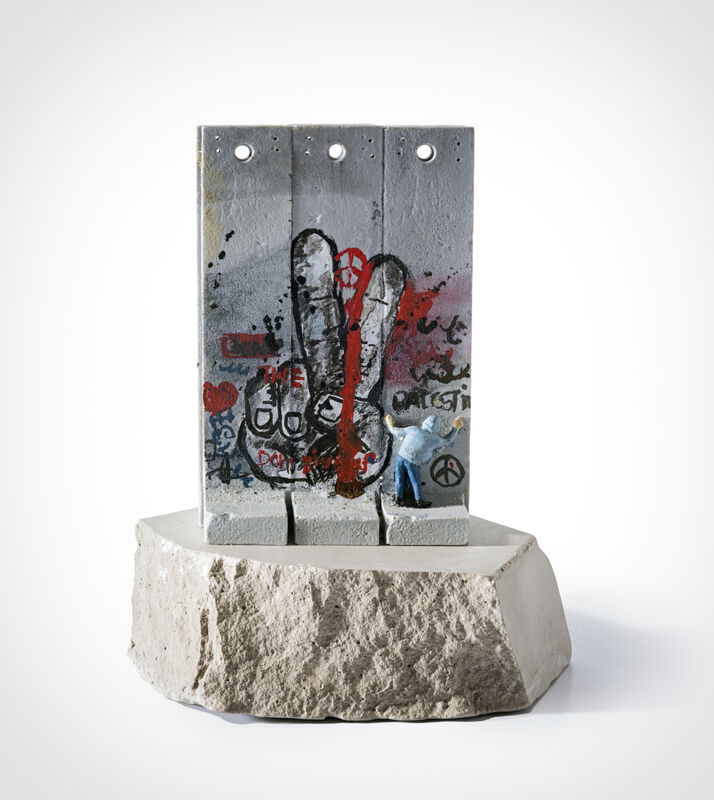 Banksy, 'Walled Off Hotel - Three Part Souvenir Wall Section (Peace)', Sculpture, Hand painted resin sculpture with West Bank Separation Wall base, Tate Ward Auctions