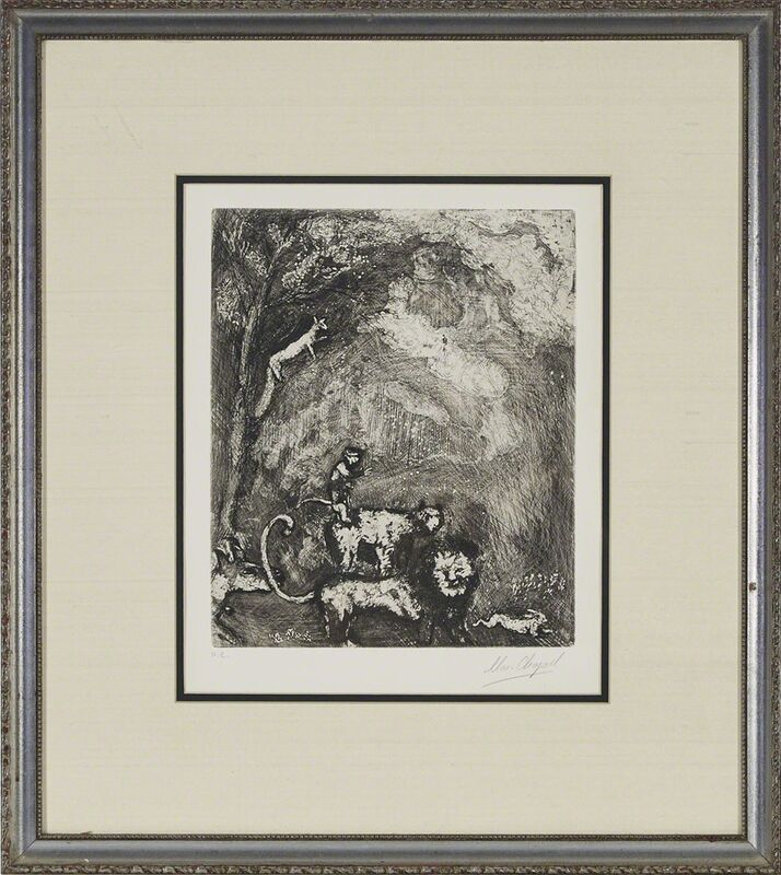 Marc Chagall, 'Le Lion S'En Allant En Guerre (From Les Fables De La Fontaine, Volume Ii', Print, Etching and drypoint on BFK Rives watermarked paper, Waddington's