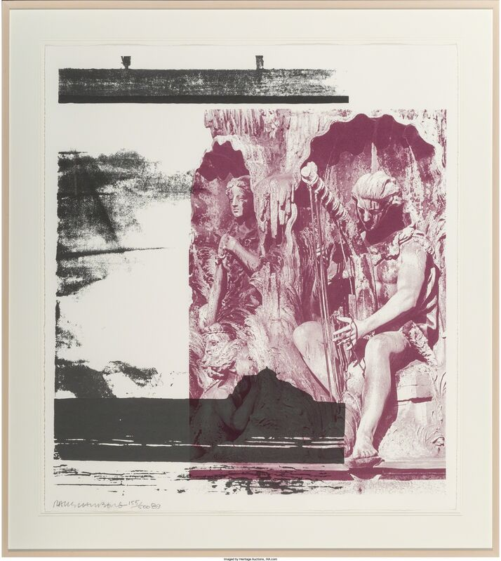 Robert Rauschenberg, 'Broken Harp', 1989, Print, Lithograph in colors on wove paper, Heritage Auctions