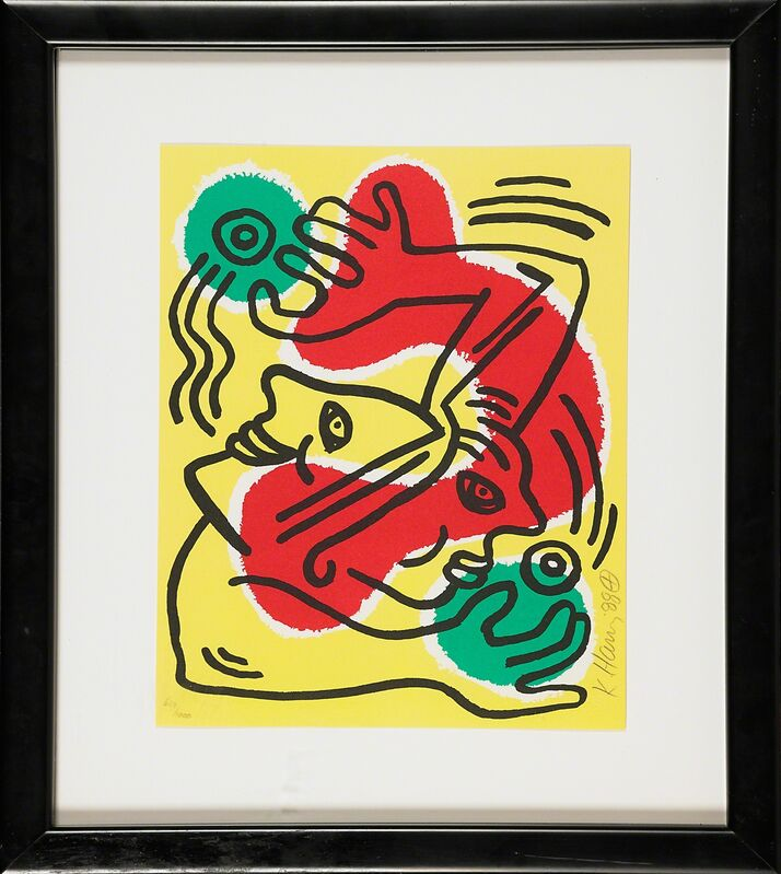 Keith Haring, 'International Volunteer Day', 1988, Print, Lithograph in colors (framed), Rago/Wright