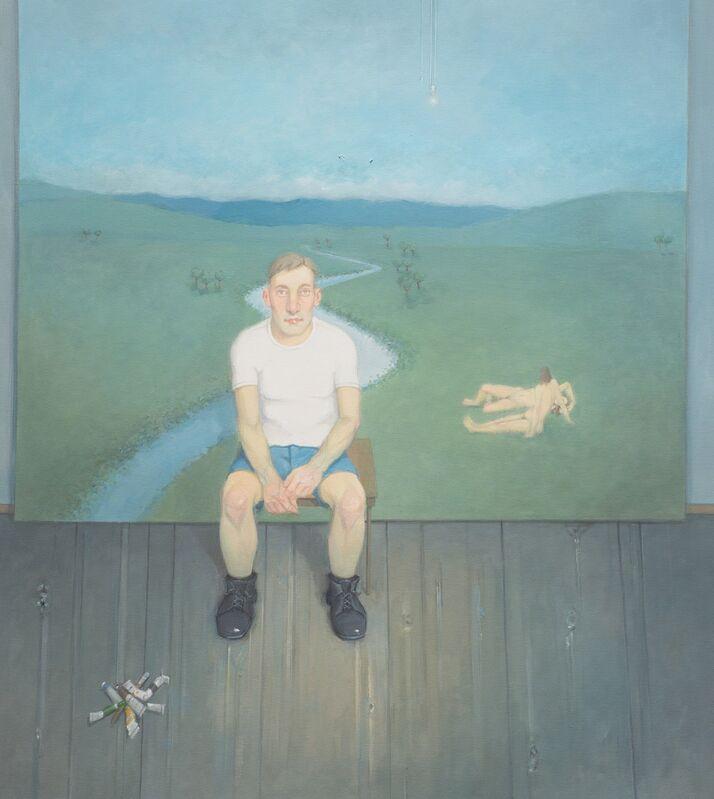 Rodrigo Cunha, 'Interior com Tintas no Assoalho [Interior with paint on the floor]', 2014, Painting, Oil on canvas, Zipper Galeria