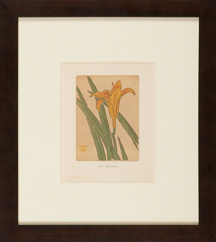 Arthur Wesley Dow, 'Ipswich Prints: Lily', 1901, Photography, Relief reproduction print on paper, Ipswich, MA, Rago/Wright/LAMA