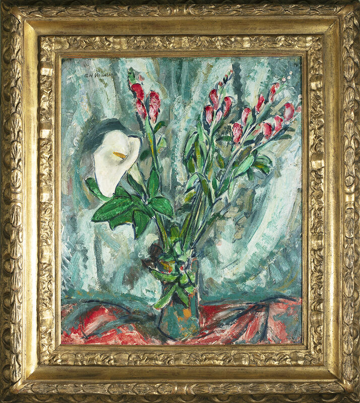 Alfred H. Maurer, 'Floral Still Life with Calla Lily', ca. 1920s, Painting, Oil on board, Questroyal Fine Art
