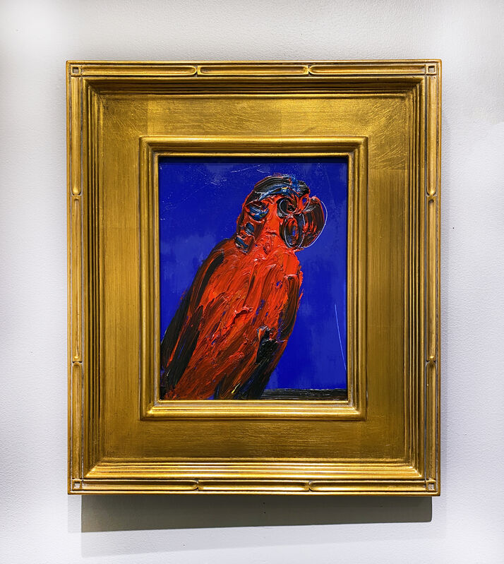 Hunt Slonem, 'Red Lory', 2021, Painting, Oil on panel, DTR Modern Galleries