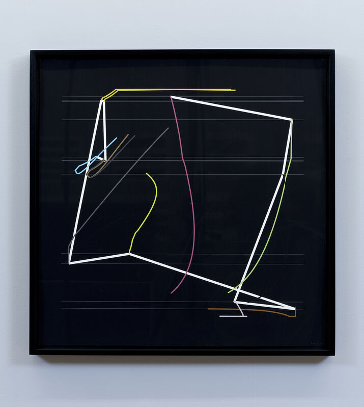 Manfred Mohr, 'P2200_1930', 2014-2015, Drawing, Collage or other Work on Paper, Pigment ink on paper, bitforms gallery