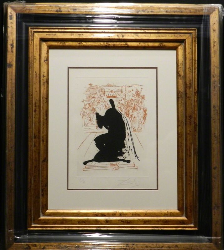 Salvador Dalí, 'La Vida es Sueno Figure in an Emine Cloak', 1973, Print, Etching, Fine Art Acquisitions Dali