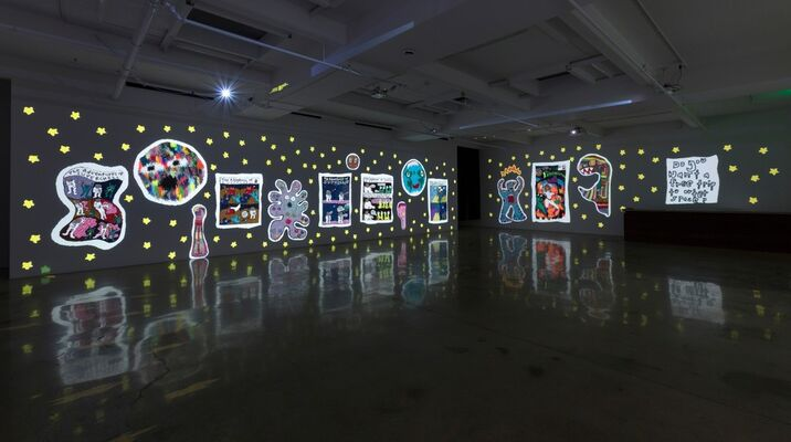 Do You Want A Free Trip To Outer Space?, installation view