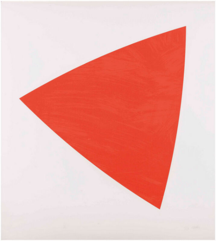 Ellsworth Kelly, 'Untitled (Red State II)', 1988, Print, Lithograph in two tones of red, on Arches wove paper, Upsilon Gallery