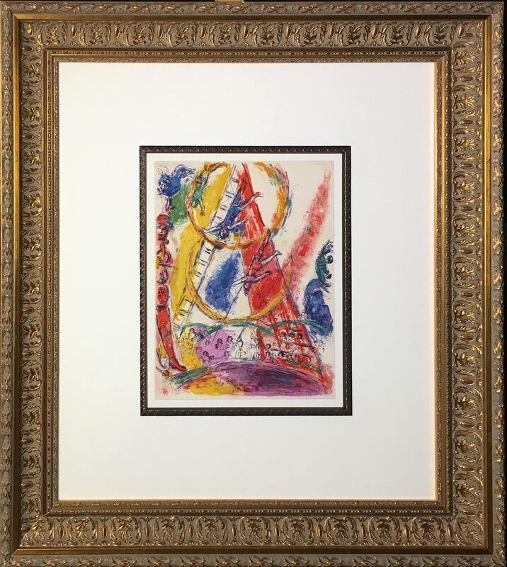 Marc Chagall, 'The Trapeze Artist', 1967, Print, Lithograph printed in color on Arches paper, Baterbys