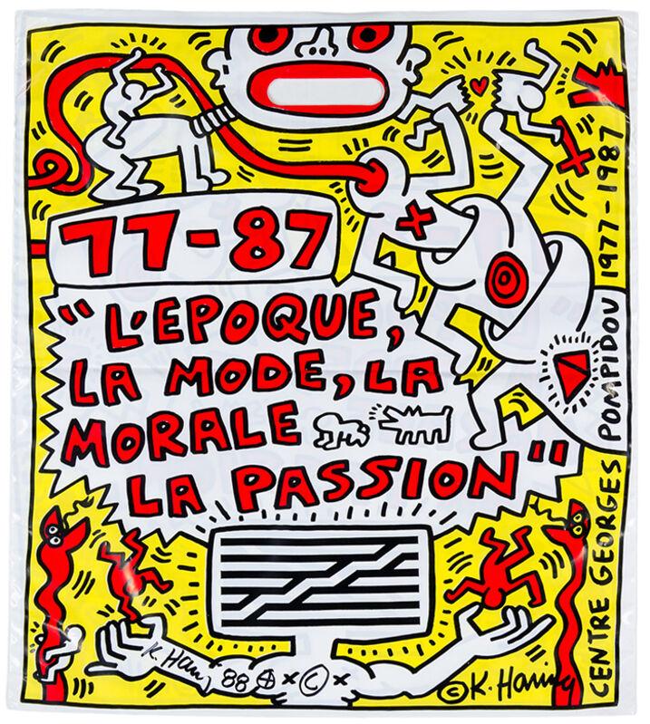 Keith Haring, 'L'Epoque, la Mode, la Morale, la Passion', 1987, Print, Original offset print on plastic bag, Samhart Gallery