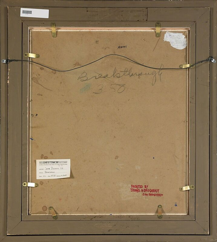 James Daugherty, 'Breakthrough', Painting, Oil on board, Rago/Wright