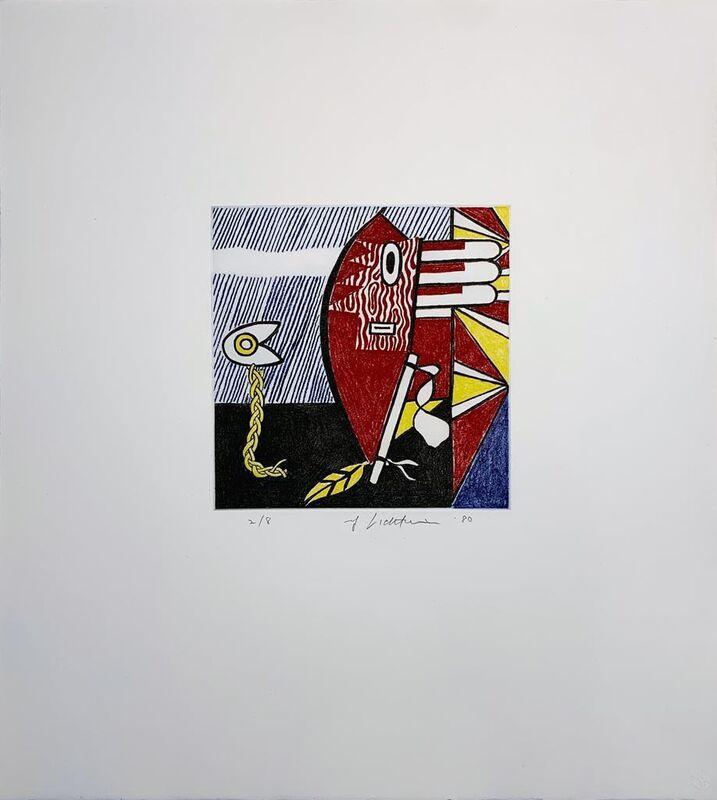 Roy Lichtenstein, 'Untitled I', 1980, Print, Soft-ground etching on mold-made Lana paper, Hamilton-Selway Fine Art