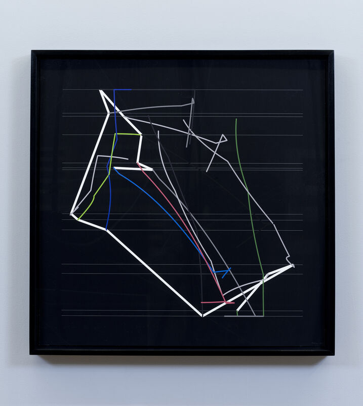 Manfred Mohr, 'P2200_1539', 2014-2015, Drawing, Collage or other Work on Paper, Pigment ink on paper, bitforms gallery