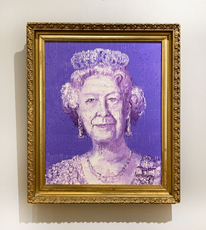 Hunt Slonem, 'Her Majesty', 2021, Painting, Oil on panel, DTR Modern Galleries