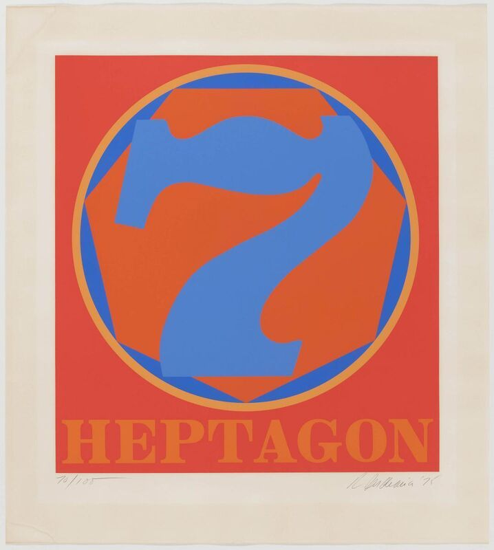 Robert Indiana, 'Polygons', 1975, Print, Series from seven colour silkscreens on Arches 88, Van Ham