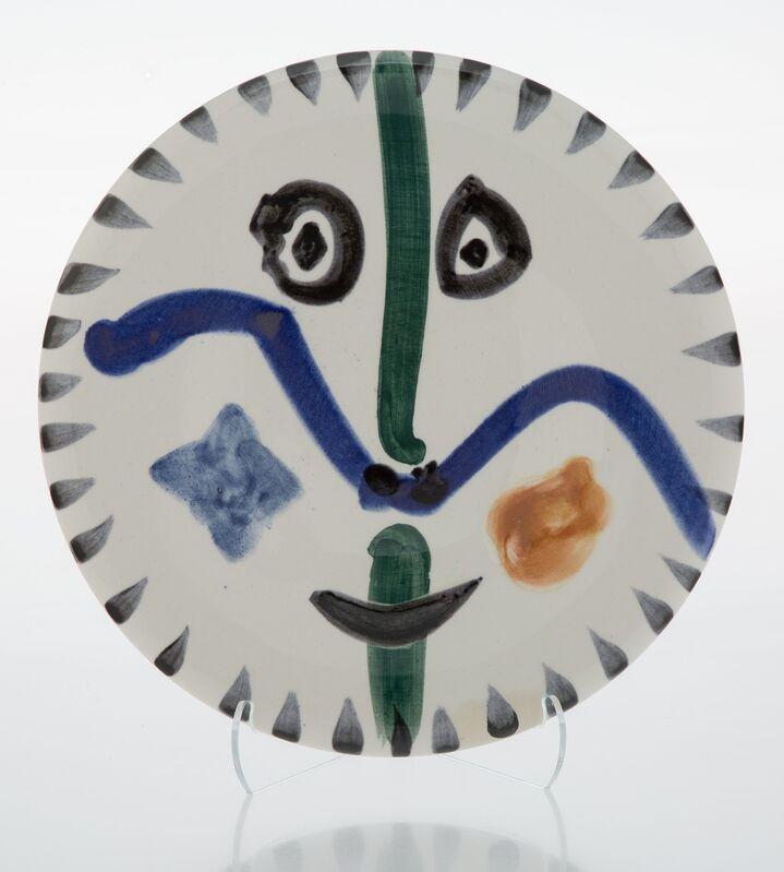 Pablo Picasso, 'Visage No. 111', 1963, Design/Decorative Art, Terre de faïence plate, glazed and painted, Heritage Auctions