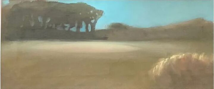 Tula Telfair, 'Mindscape, Contemporary Surreal Landscape Oil on Paper 1989 Female Artist', 1989