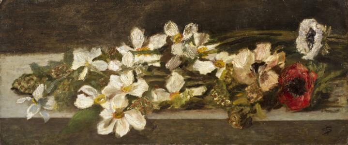 Giovanni Segantini, 'Natura Morta Con Fiori', 1879-1880