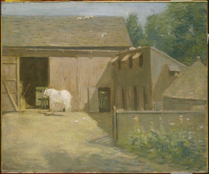 Julian Alden Weir, 'New England Barnyard'