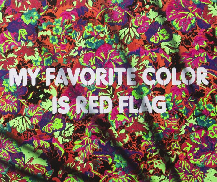 Adam Mars, 'My Favorite Color Is Red Flag', 2018