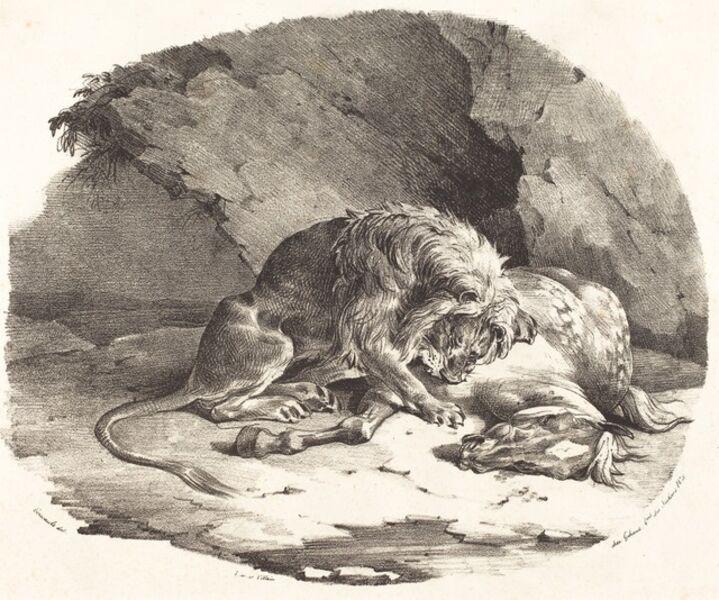Théodore Géricault, 'Lion Devouring a Horse', 1823