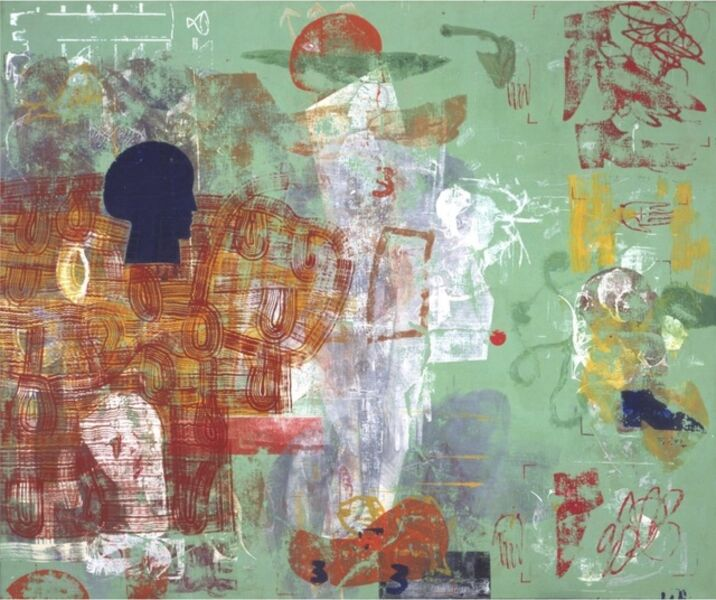 Mimmo Paladino, 'Untitled, 1998 Mixed media on canvas 270 x 325 cm', 1998