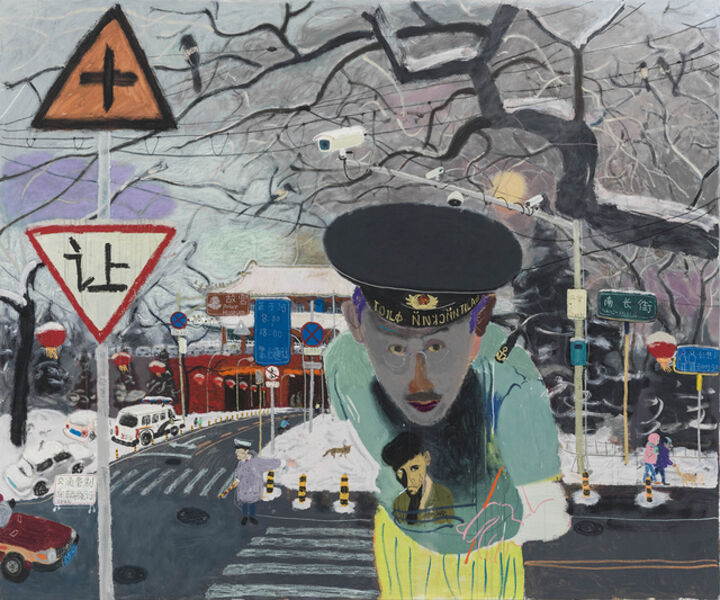 Wang Yuping, 'West Gate & Self Portrait', 2015