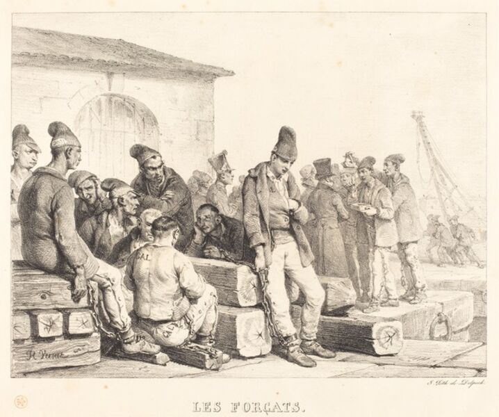 Horace Vernet, 'Les forcats (The Convicts)'