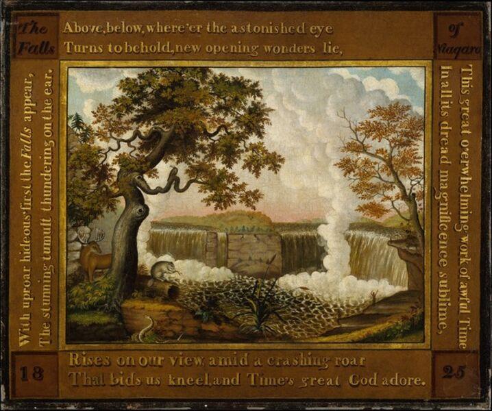 Edward Hicks, 'The Falls of Niagara', ca. 1825