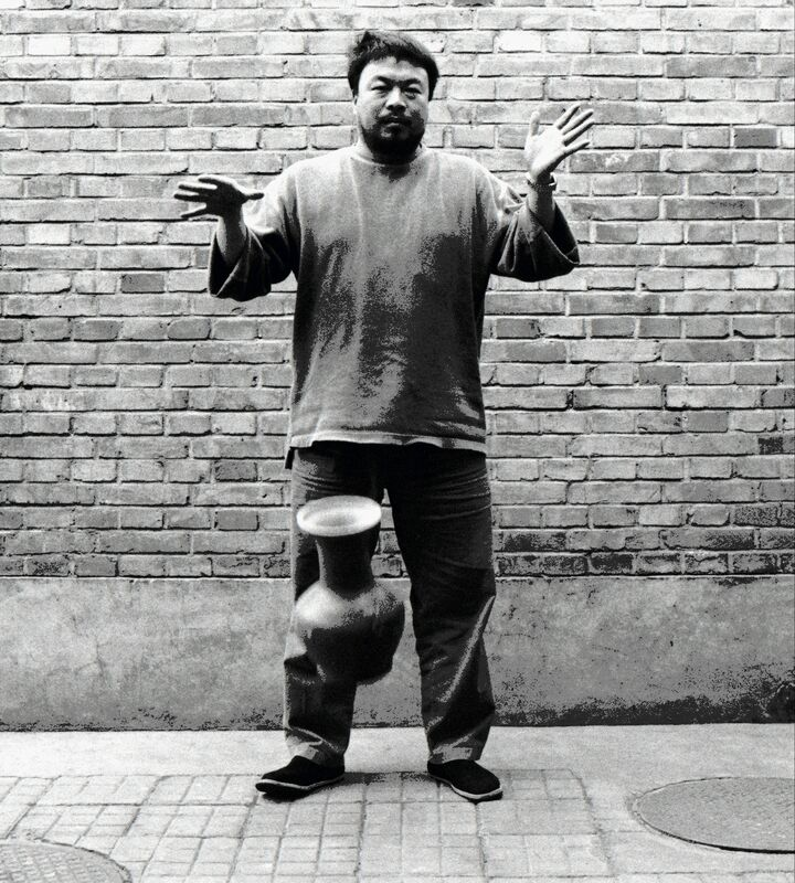 Ai Weiwei, 'Second panel of the triptych Dropping a Han Dynasty Urn', 1995, Photography, Brooklyn Museum