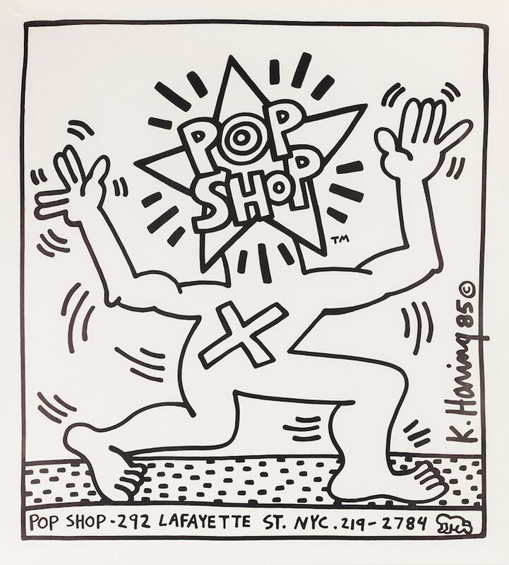 Keith Haring, 'Pop Shop Poster (NYC)', ca. 1986, Ephemera or Merchandise, Offset print, paper, Artificial Gallery