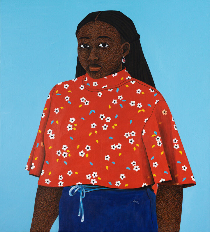 Hamid Nii Nortey, 'Daring Eyes', 2021, Painting, Acrylic on canvas, Christopher Moller Gallery