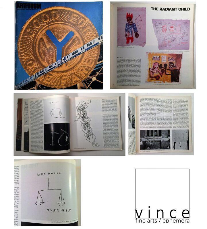 "Jean-Michel Basquiat, '""Radiant Child"", Artforum Magazine, Rene Ricard Article, The Holy Grail !!!!!!', 1980, Ephemera or Merchandise, Print on paper, VINCE fine arts/ephemera"