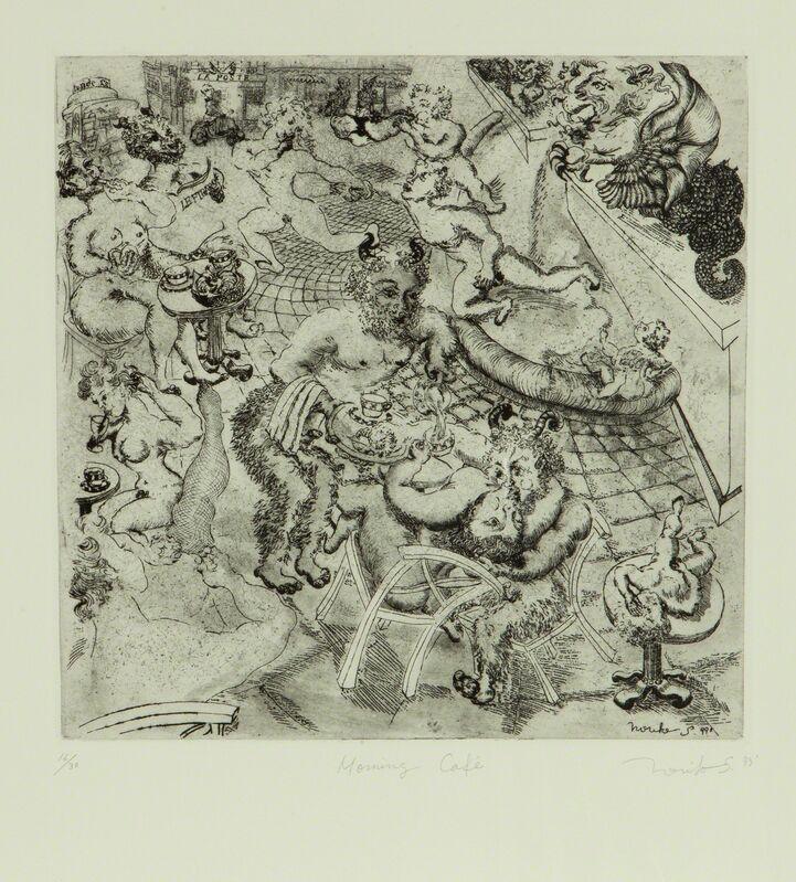 Noriko Shinohara, 'Morning Cafe', 1999, Print, Etching, aquatint and engraving on paper, Deborah Colton Gallery