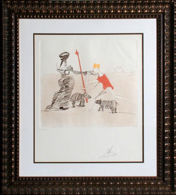 Salvador Dalí, 'Pastorale from Historia de Don Quichotte de la Mancha', 1981, Print, Etching, RoGallery