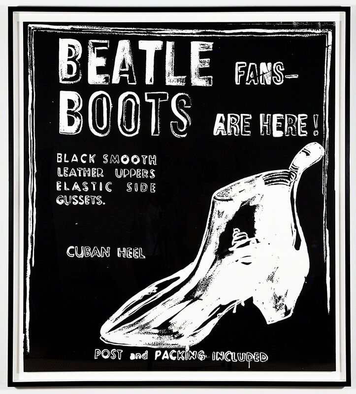 Andy Warhol, 'Beatle Boots (Negative)', 1986, Painting, Synthetic polymer paint and silkscreen on canvas, Kohn Gallery