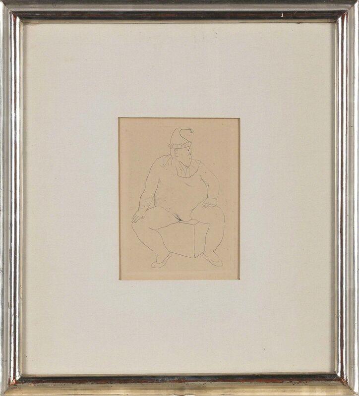 Pablo Picasso, 'Le Saltimbanque Au Repos (Bloch 10)', 1905, Print, Drypoint, on cream wove paper, Doyle