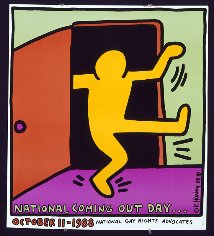 Keith Haring, 'National Coming Out Day', 1988, Print, Offset lithograph, Grey Art Gallery