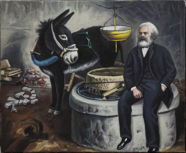 Qin Qi 秦琦, 'Marx and Donkey', 2018