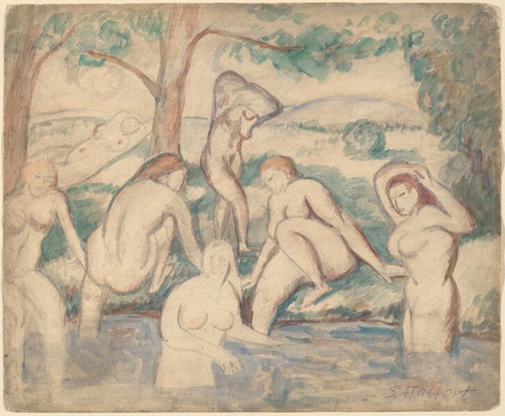 Samuel Halpert, 'Bathers', ca. 1905