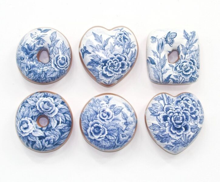 Jae Yong Kim, 'Blue and White Donuts (6)', 2019