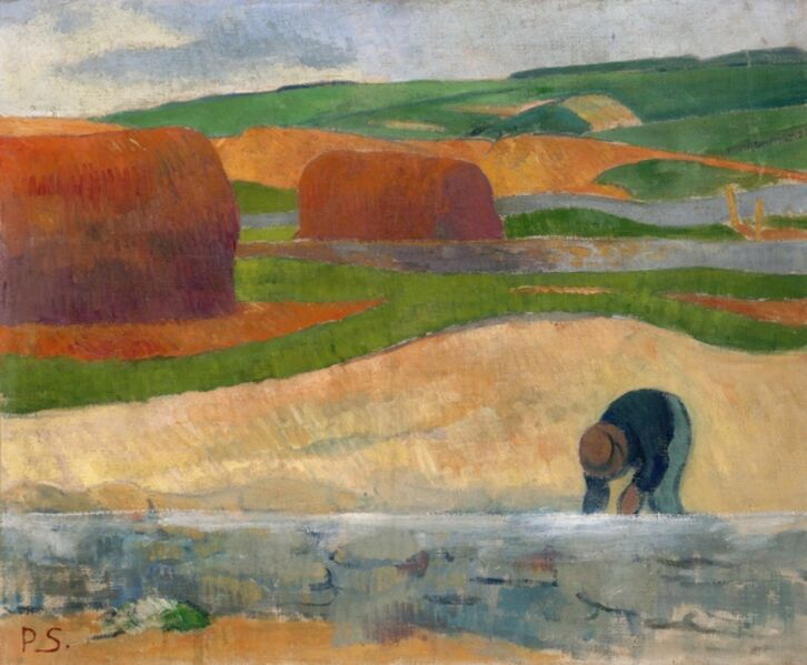 Paul Sérusier, 'Seaweed Gatherer', ca. 1890