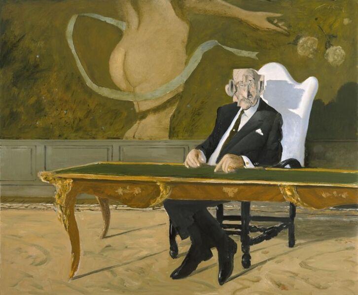 Julio Larraz, 'The Man with Cubist Head ', 2018